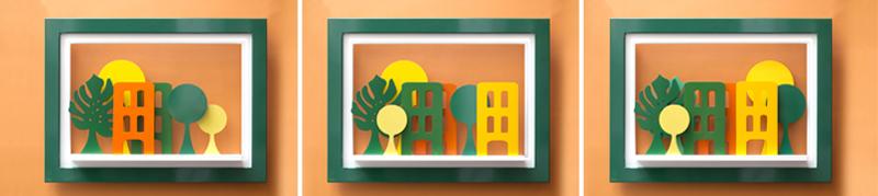 """""""Ciudad Amazonas"""" - Dimensiones: 65cm x 87 cm - Materiales: MDF - Pintura Nitrocelulosa"""